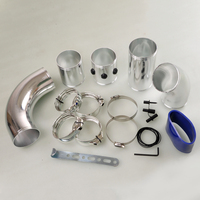 Free Shipping 3 Multiple Combined Aluminium Cold Air Injection Intake System Pipe Tube Kit [QPL433]