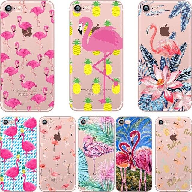 Flamingos Soft Silicone Cases For iPhone 5, 6/6 Plus, 7/ 7 Plus, 8/8 Plus