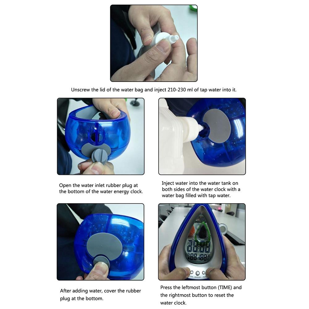 Water Powered Eco-friendly Digital Clock 26