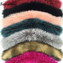 2018 Nouveau 7 Couleurs Hiver 100% Réel Naturel Fourrure Collier Mode Femmes  Écharpes Manteau Pull e3ed3123354