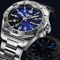 Мужские автоматические механические часы Yelang  часы Tritium T100 с повернутым циферблатом и 24 драгоценными камнями  часы для плавания WR100M
