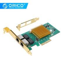 ORICO Network Cards PCI-E 10M/100M/1000M RJ45 Gigabit Ethernet Network LAN Adapter 2 Port 1000Mpbs Super Speed PCI Express Card