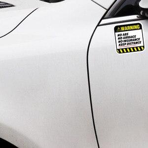 Image 4 - YJZT 2X 8,5 CM * 8,5 CM Gefahr Auto Aufkleber Warnung KEINE ABS AIRBAGS VERSICHERUNG HALTEN ABSTAND Aufkleber 12 1037