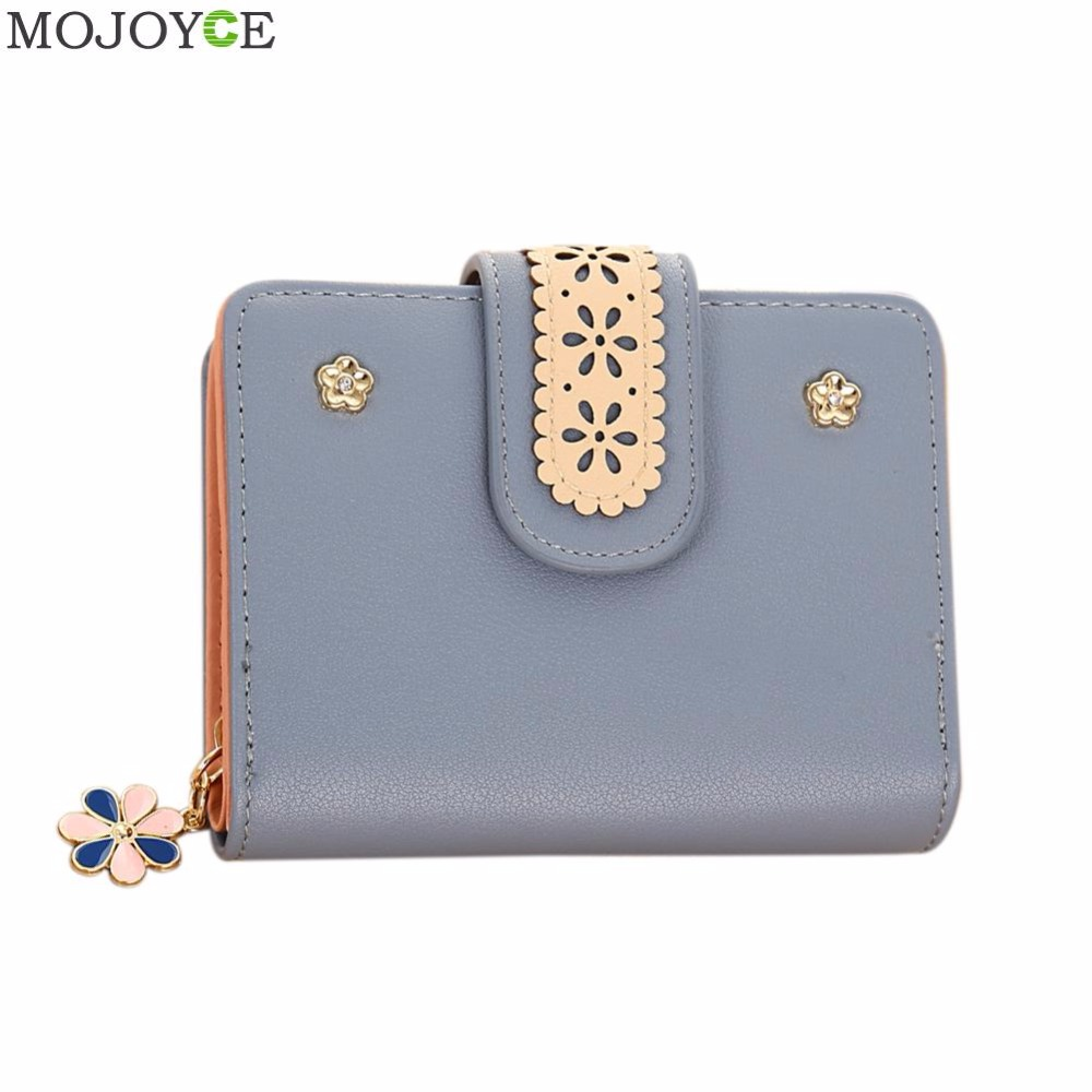 Bifold Women Flower Lace Wallets Multifunction Small Female Coin Purse Card Holder Short Lady Clutch Bag Purse Mini Money Bags cute girl hasp small wallets women coin purses female coin bag lady cotton cloth pouch kids money mini bag children change purse