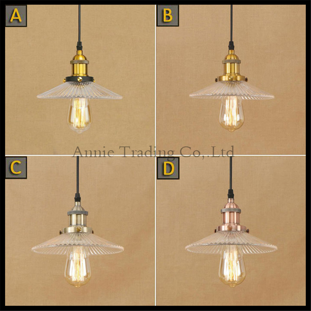 Loft Pendant Light Industrial Style Glass Pendant Lamp Bar/Restaurant Light Retro Lamparas lustres e pendentes luces decorativas retro industrial style pot lid shape lustres loft heavy pendant lamp antique cord pendant light for bar bedroom study