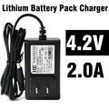 Chargeur batterie de 5.5mm 2A 4.2 V Carregador de Bateria EUA Plug 18650 Bateria de Iões de lítio Carregador de Bateria