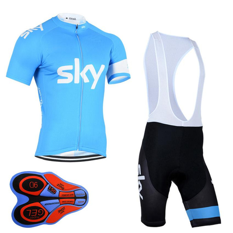 SKY Pro Cycling Jersey Short Sleeve Set Bicycle Clothing Breathable maillot ropa ciclismo Bike Clothes Sportwear 9D Shorts F0301  breathable cycling jersey summer mtb ciclismo clothing bicycle short maillot sportwear spring bike bisiklet clothes ciclismo