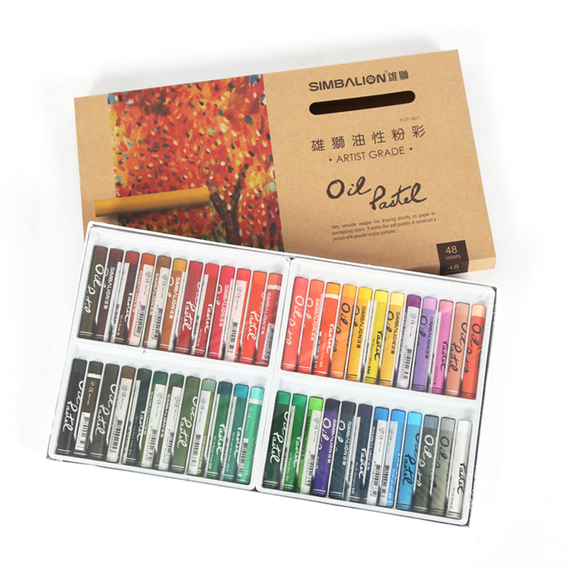 48 Colors Heavy Color Oil Pastel for Artist Student Graffiti Painting Drawing Pen School Stationery Soft Crayon Art Supplies ezone 20 colors wax crayon korean creative graffiti kawaii pens for kids painting drawing art supply school reward office supply