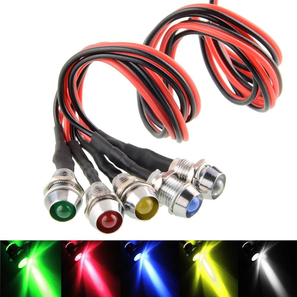 5pcs/lot LED Indicator Light Lamp Pilot Dash Direction Bulb Dashboard Panel Instrument Light Car Truck Boat 5 Color