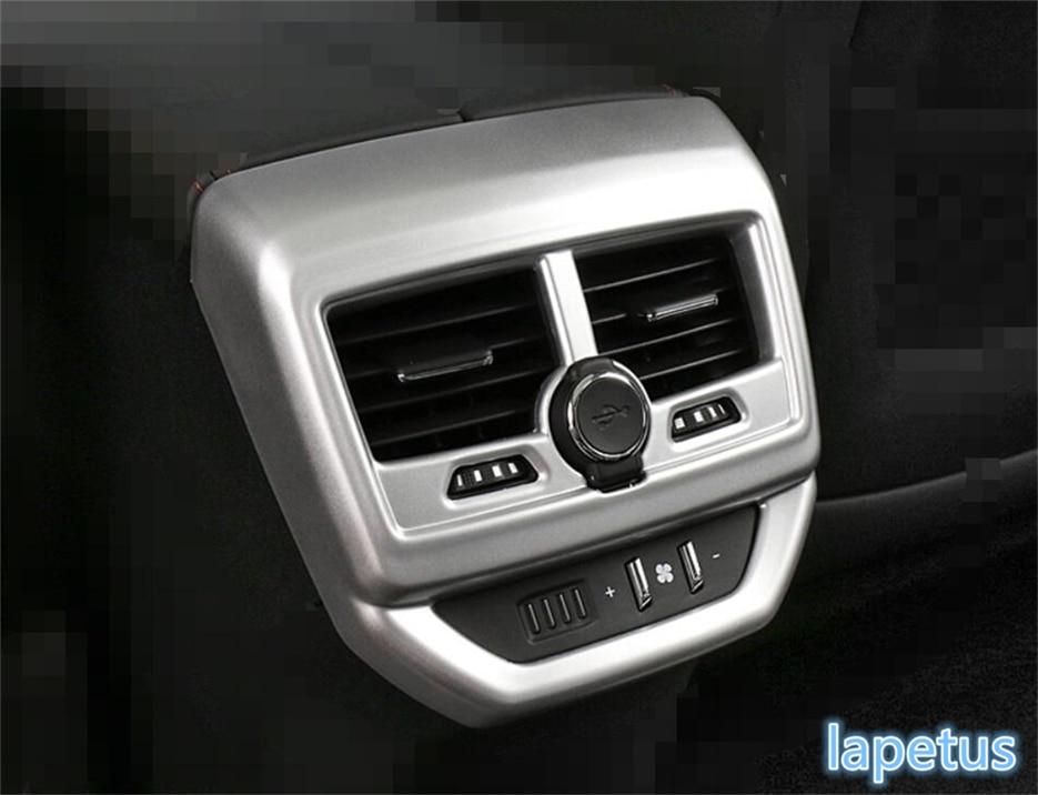 Lapetus For Peugeot 5008 GT 2017 2018 ABS Armrest Box Rear Air Conditioning AC Vent Outlet Decoration Stickers Cover Trim 1 Pcs