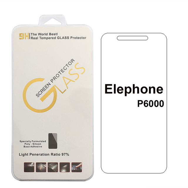 Tempered Glass For Elephone P9000/P8000/ P7000/ P6000 /P3000 /Vowney lite Tempered Glass 9H 2.5D High Quality Protector Film
