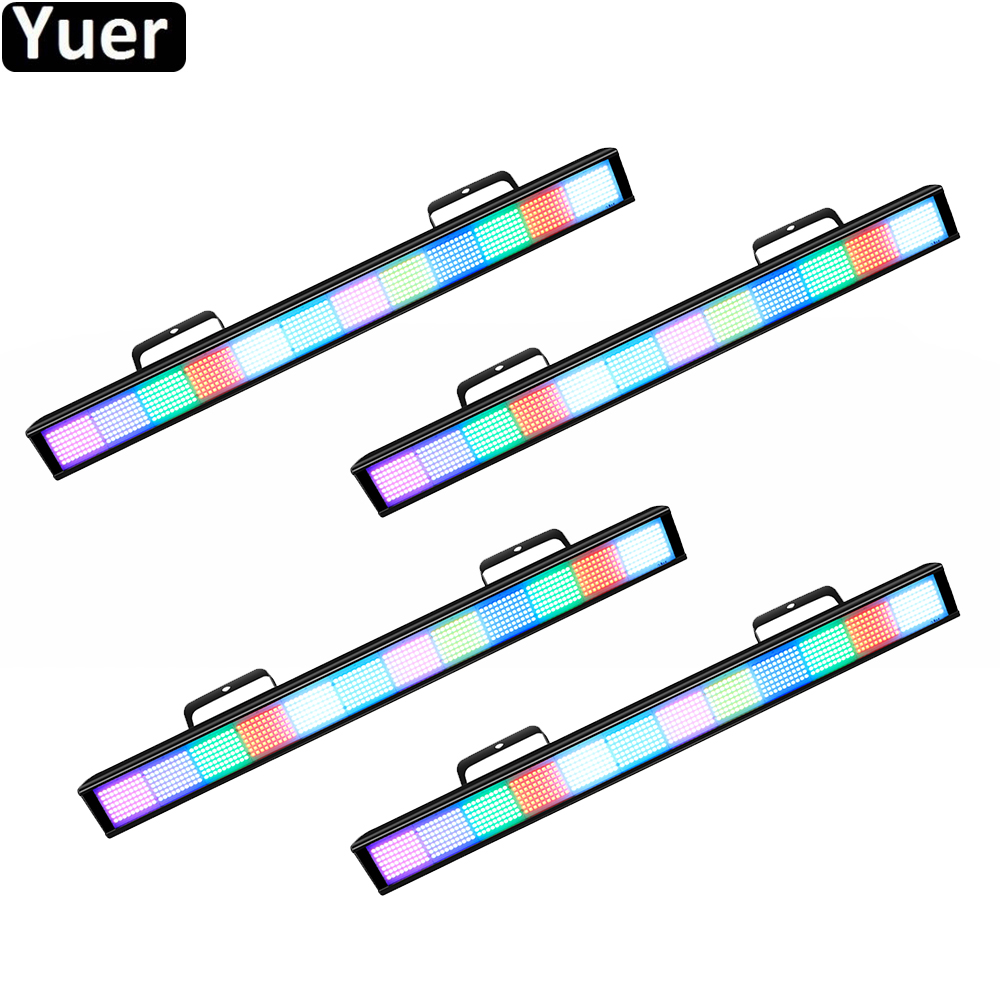 4Pcs/Lot 384Pcs LED RGB Pixel Strobe Wall Washer Light Bar DMX DJ Equipment Disco Full Color Lights Wash
