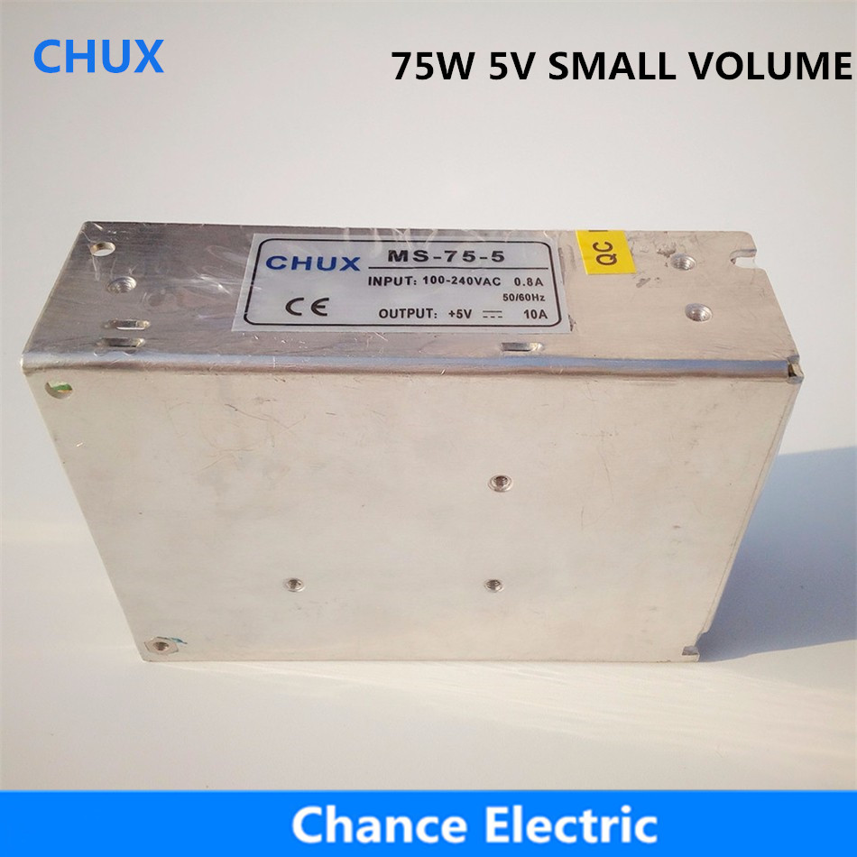 15A Power Suppliers Single Output Smaller Volume (MS-75W-5v) LED Switching mode Power Supply 75W 5V single output smaller volume led switching mode power supply mini size ms series 400w 12v 33a ms 400w 12v