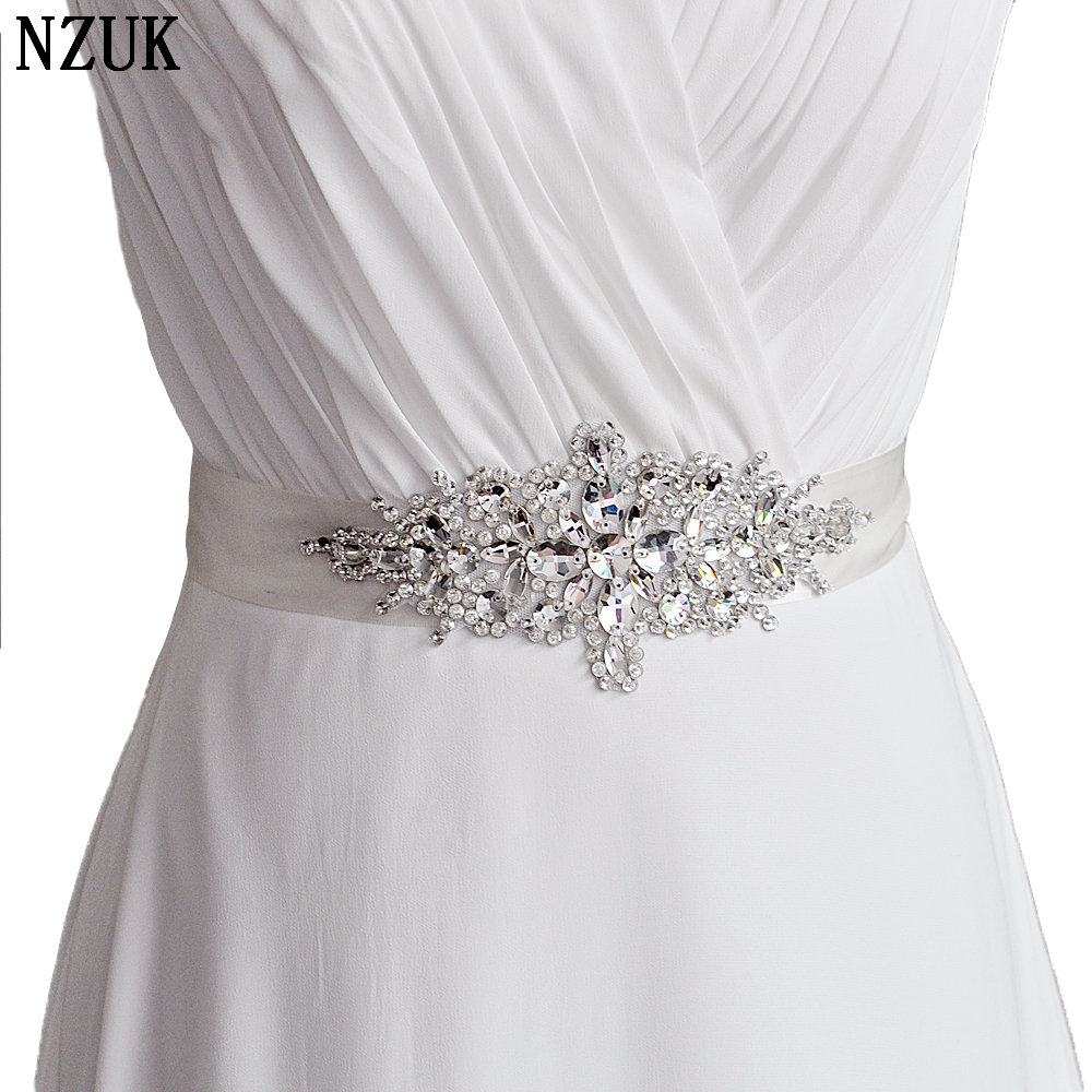 High Quality Dazzling Glass Crystal Rhinestone Bridal Belt with Crystals for Wedding Dress Luxury Wedding Belt