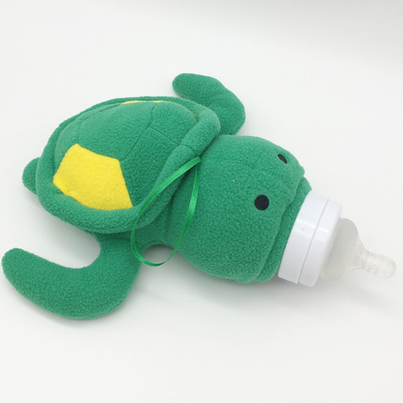 Cute Green Turtle Baby Feeding Bottle Bag//Baby Bottle Case Baby Bottle Huggers/Baby Feeder Cover/Infant&Toddlers Plush Toys