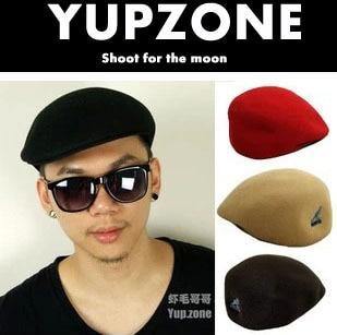 KANGOL Kangaroo thief vintage wool beret hat cap hat black men Hiroshi  Fujiwara a39f16eab04