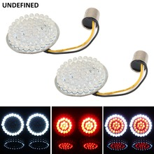 2 Bullet LED Turn Signals Motorcycles Indicator Light 1157 Inserts Lamp Panel For Harley Touring Sportster Softail Dyna FLST