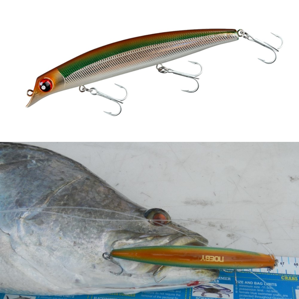 Noeby Sasuke minnow lure hard bait for sea bass 120mm 16g&150mm 24g floating jerkbait of surf bass fishing lures image