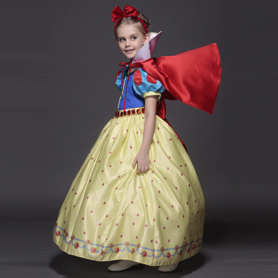 New Nip Disney Baby Girls Halloween Cinderella Costume 6: Snow White Costume Princess Gown Tutu Dress Disfraz T