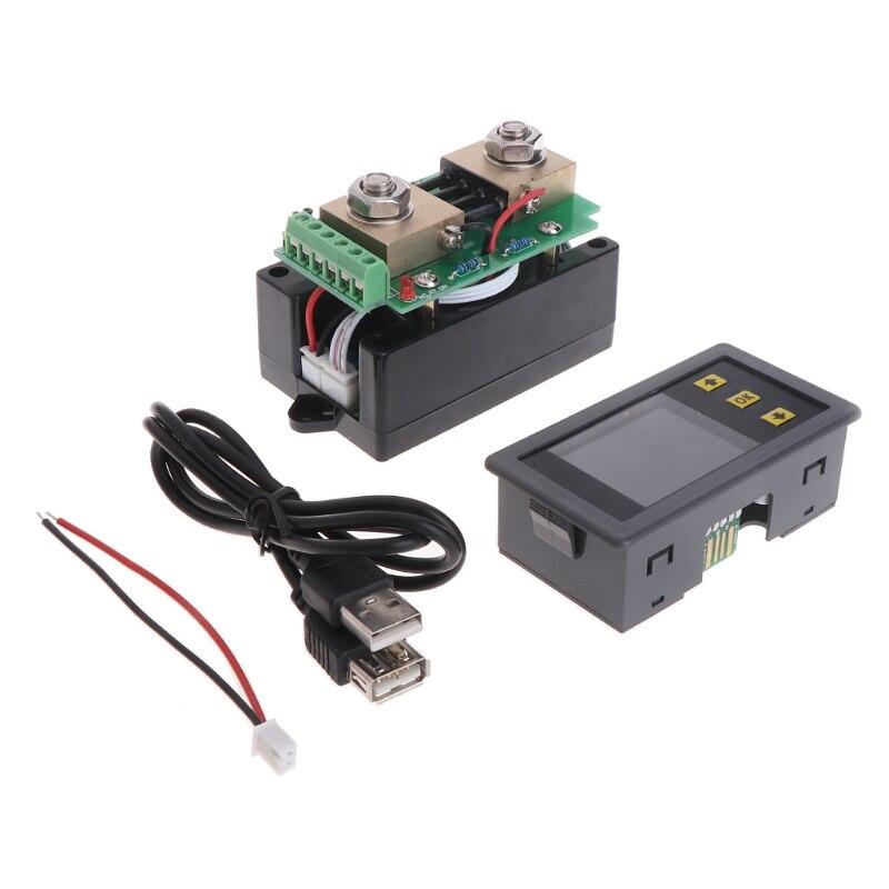 DC Батарея 120 В 200A Напряжение ЖК-дисплей Цифровой Текущий Мощность Ёмкость комбо Ватт метр