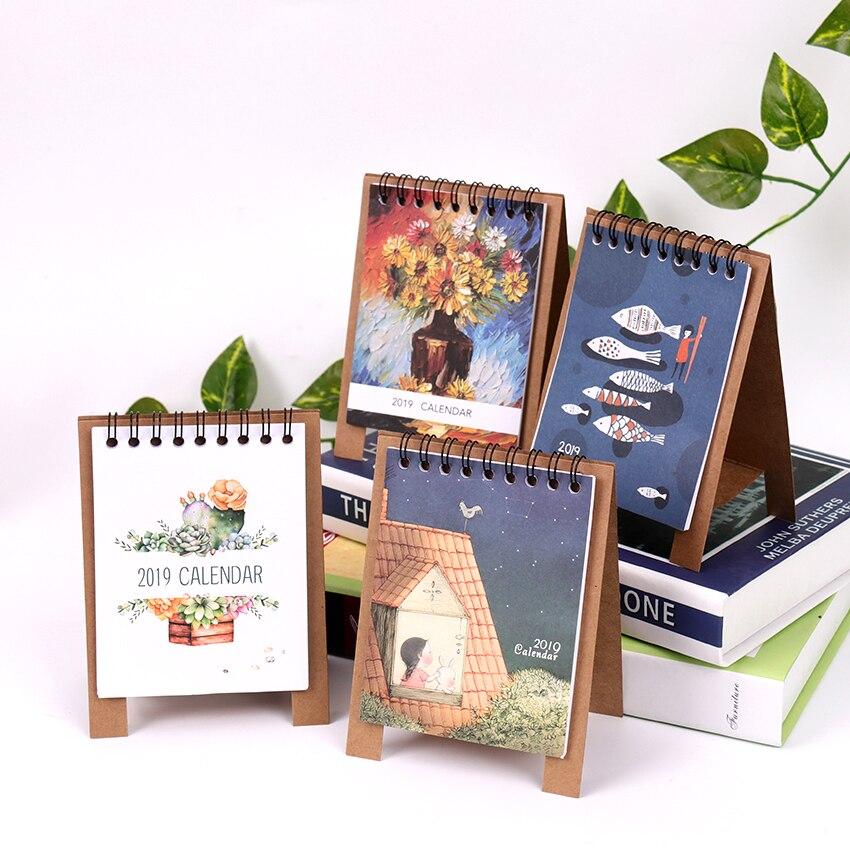 Животные серии календарей план тетрадь милый мини офис кошка собака стол Бумага календари подарок ежедневно план Таблица управлять график...