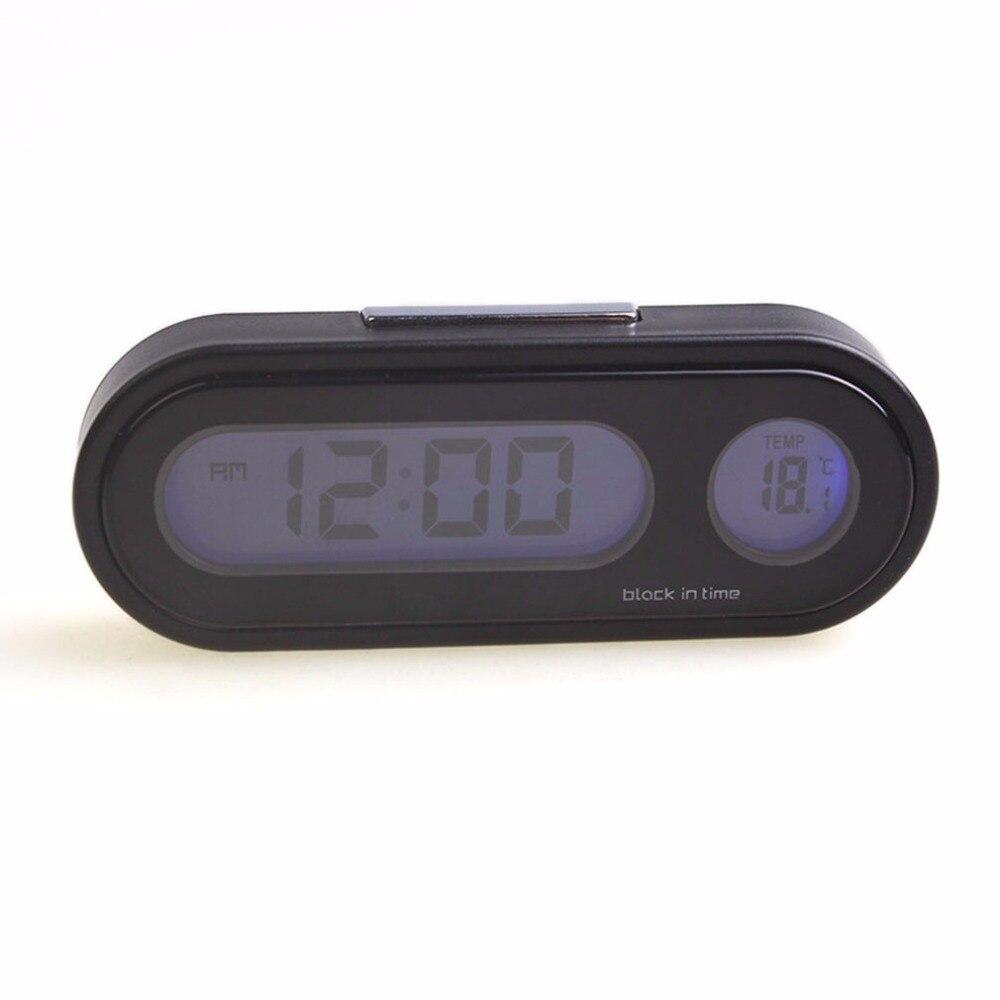 Negro Profesional de Vehículos Auto Reloj Electrónico Digital Termómetro de Alta