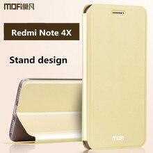 Xiaomi Redmi Note 4x Чехол кожаный флип Назад телефона случаях кремния жесткий Mofi Xiaomi Redmi Note 4 Глобальный Версия Чехол 5.5
