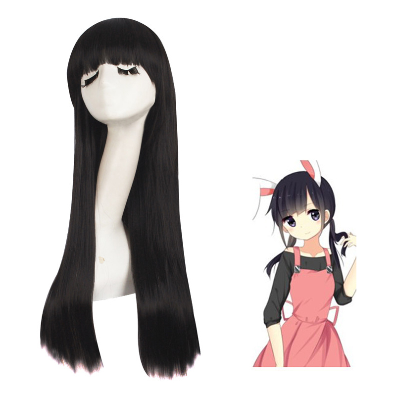 Kagerou Project Asahina Hiyori Brownish Black Anime Costume Cosplay 70cm Straight Wig Halloween Costumes Party Ladies  Hair