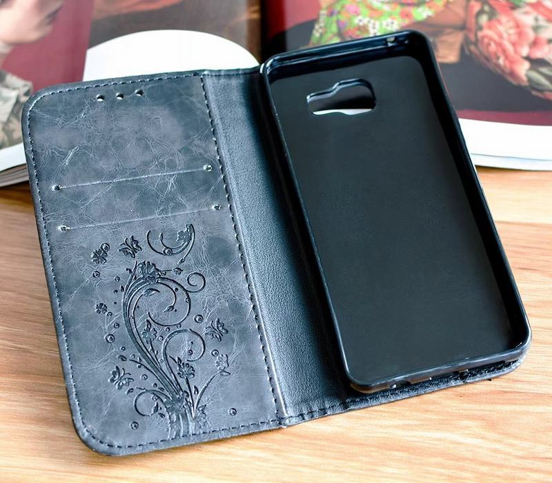HTB1B W7RmzqK1RjSZFpq6ykSXXa0 Flip Wallet Leather Case for Samsung Galaxy A7 2017 A5 A3 Cover Embossed Flip Book Cases for Samsung A5 A3 2016 A310 A510 Bag