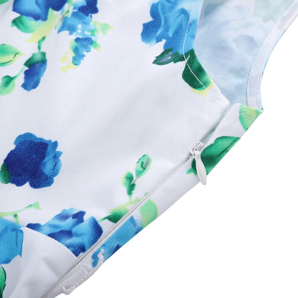 Grace Karin Flower Girl Dresses for Weddings 2017 Sleeveless Polka Dots Printed Vintage Pin Up Style Children's Clothing 34