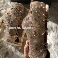 ea9059d1160 Popular Bling Rhinestones High Heeled Ankle Boots-Buy Cheap Bling ...