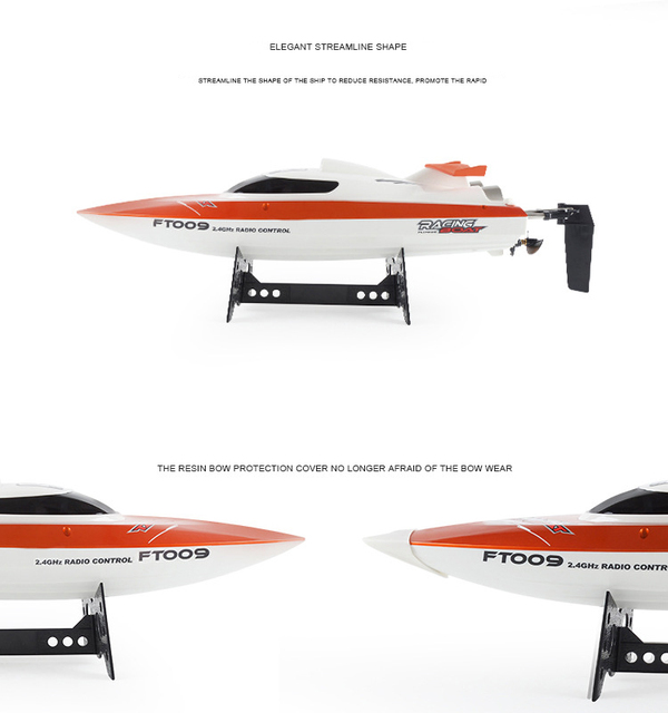 Feilun FT009 2.4G 4CH Water Cooling High Speed Racing RC Remote Control Boat For Kids
