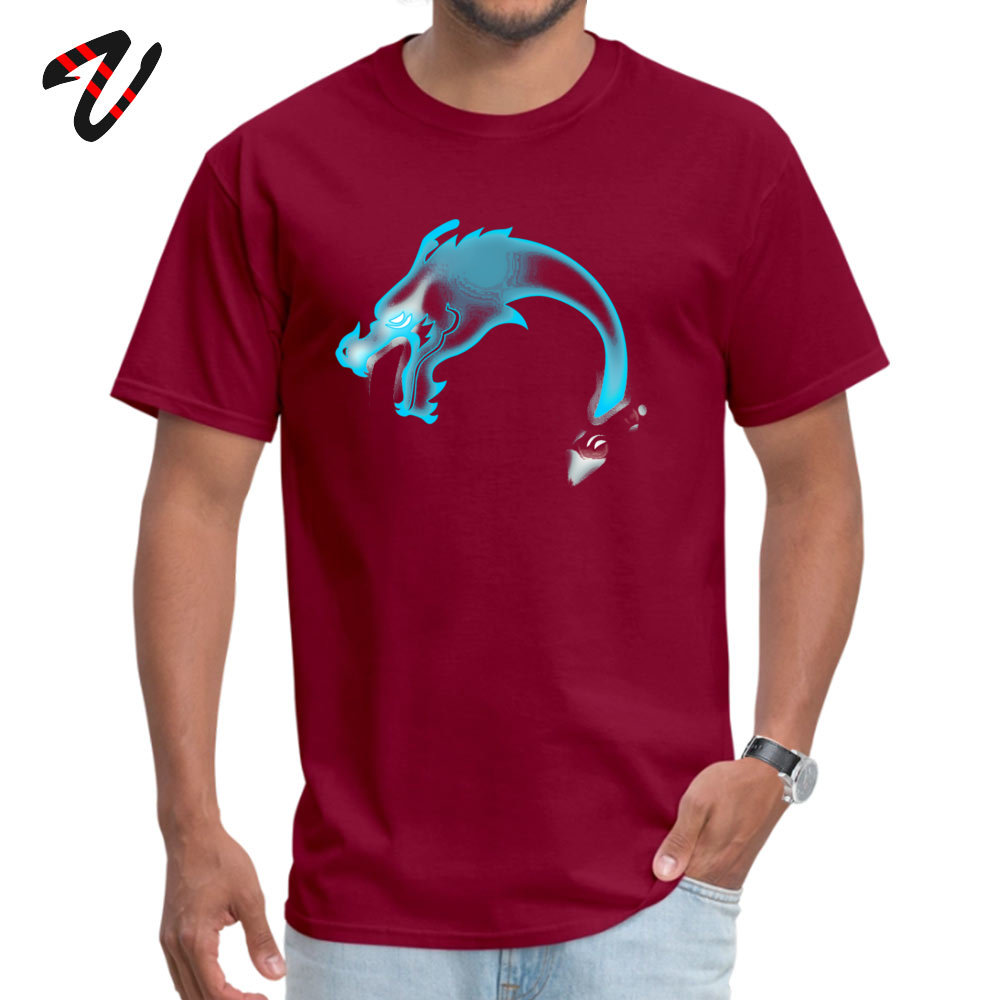 Summer Two Dragons two Brothers Men T Shirt Wholesale Summer/Fall Short Sleeve Crew Neck 100% Cotton Fabric T Shirt Sweatshirts Two Dragons two Brothers -13805 maroon