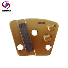 RIJILEI 3PCS/lot PCD Diamond Grinding Disc Block Plate for Removing Epoxy Glue Paint on Concrete Floor PCD1