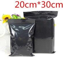 20cm*30cm Black Zip Lock Resealable Plastic Package Bags Zipper Top Grip Seal Retail Storage Packing Ziplock Pouches 50Pcs/Lot цены