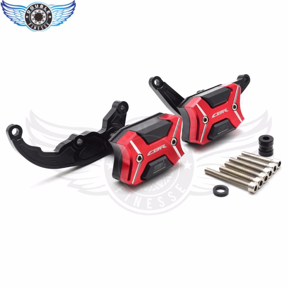 brand new Motorcycle Frame Sliders Crash Engine Guard Pad Aluminium Side Shield Protector For Honda CBR600RR 2007 2008 motorcycle frame sliders crash engine guard pad aluminium side shield protector for honda cbr1000rr 2008 2009 2010 2011 2012 13