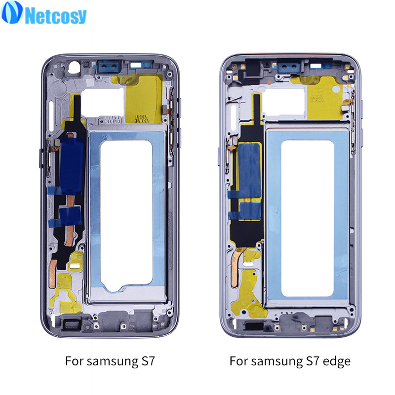 Mid Middle Frame Bezel Middle Plate Cover For Samsung Galaxy S7 G930 Front Housing Frame Bezel Repair for Samsung S7 EDGE G935 image