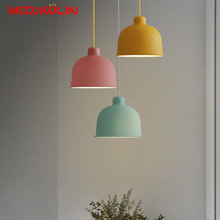 2017 Nordic Modern Colorful Led Pendant Lamp for Restaurant Bar Dinning Room Kitchen E27 110V 220V Pendant Lights For Decor