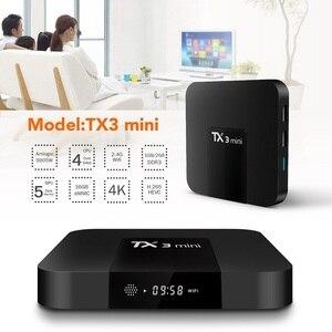 Image 2 - Caixa superior ajustada do núcleo do quadrilátero h.265 4 k wifi media player tx3mini 1 gb 8 gb vontar tx3 mini smart tv caixa android 7.1 2 gb 16 gb amlogic s905w
