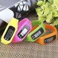 Digital LCD Ejecutar Paso Podómetro Contador de Calorías Corta Distancia Podómetro Contador Electrónico Correa de mano Deporte Reloj Pulsera