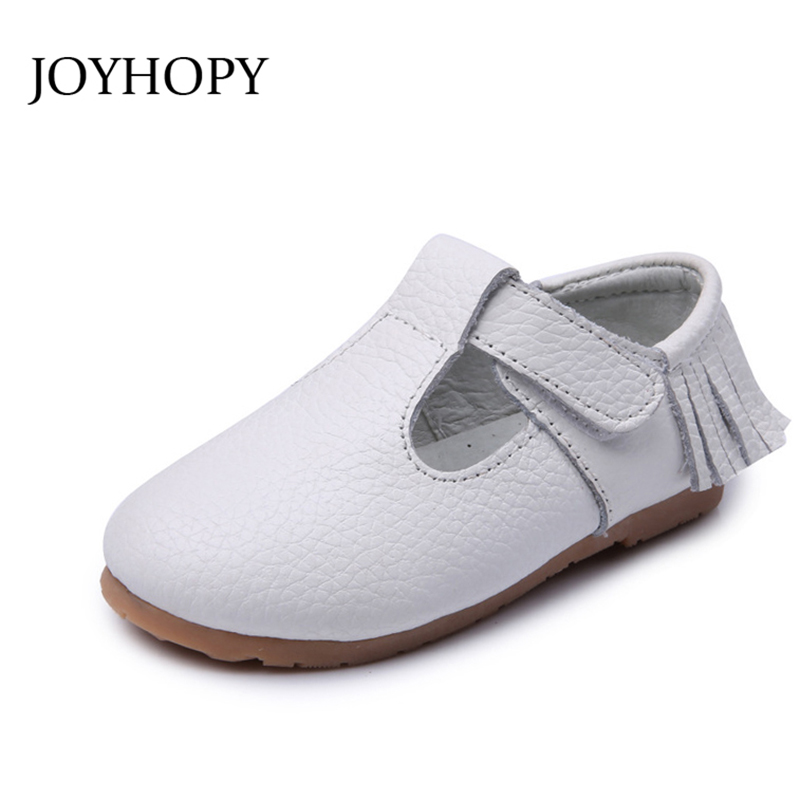 2018 New Summer High Quality Genuine Leather Children Shoes Girls fashion Fringe Sandals Princess Kids Flat Sandals