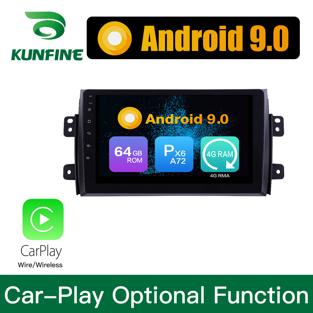 Android 9.0 Ram 4G Rom 64G PX6 Cortex A72 <font><b>Car</b></font> DVD GPS <font><b>Multimedia</b></font> Player <font><b>Car</b></font> Stereo For <font><b>SUZUKI</b></font> <font><b>SX4</b></font> 2006-2013 <font><b>Radio</b></font> Headunit image