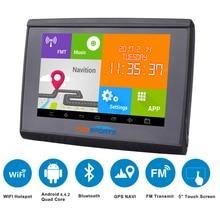 2017 5 дюймов ЖК-дисплей Android 4.4.2 WI-FI 512 М Оперативная память 8 ГБ flash GPS навигации bluetooth waterpoof навигатор для Мотоцикл/автомобиль