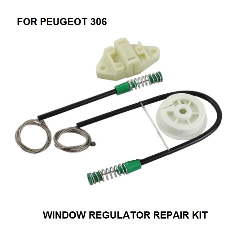 CAR ELECTRIC WINDOW REGULATOR CLIPS KIT FOR PEUGEOT 306 CABRIOLET WINDOW REGULATOR REPAIR KIT FRONT LEFT * NEW * 1993-1997