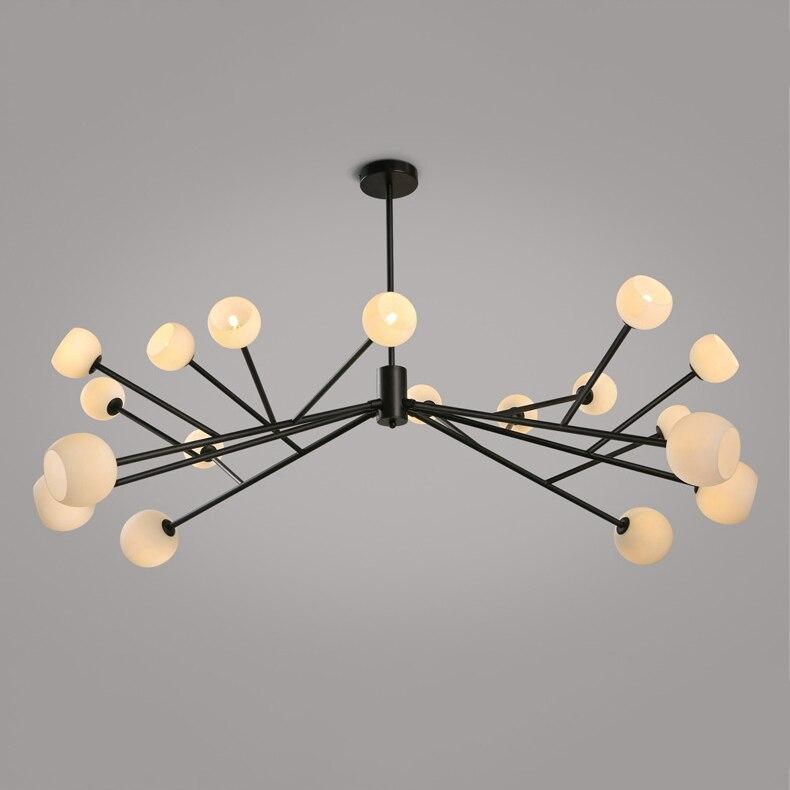 Lustre araignée Simple et magnifique. Lampe suspension en fer modèle DNA 18 lumières ampoule G4 lampes loft industriel lampe suspendue