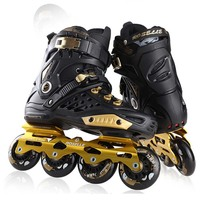 Slalom FSK Inline Skates Patines for Adults Daily Skating Sports with 85A PU Wheels ABEC 7 Bearing Aluminium Alloy Frame Base
