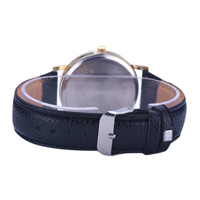 Digital Womens Wristwatch Lunar Eclipse Pattern Leather Analog Quartz Wrist Watch  watchs men popular Bracelet