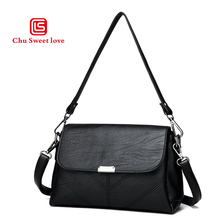 2018 new Ms. shoulder bag wild retro soft clamshell-shaped PU soft leather bag small square cross-section bag diagonal стоимость