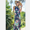 Mother Daughter Matching Dress Family Clothing 2017 Flower Printed Sleeveless Summer Family Look Mommy And Me