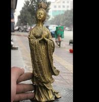 671115786 * + + 10 Народная китайская латунь древних молиться kaddish Belle Красота женщина украшают статуи
